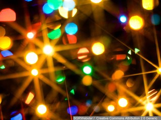 Lights of love in the air at Sparrow Carson
