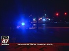 Juveniles on the run after traffic stop