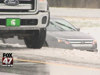 Icy roads causing crashes, road closures