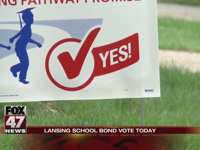 Lansing schools bond vote today