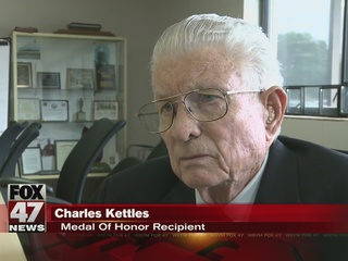 Charles Kettles receives medal of honor