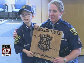 Boy lives dream of being state trooper