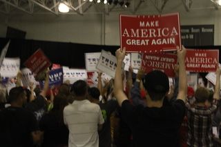 Supporters gather at Trump rally in Dimondale