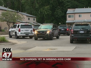 No charges yet in missing kids case