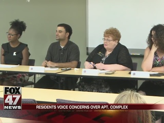 Residents voice concerns over Lansing apartments