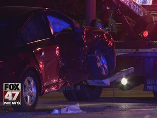 Two injured in three-car crash
