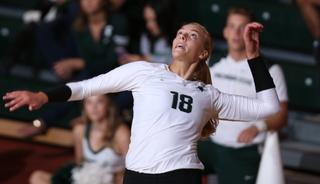 MSU volleyball sweeps DePaul