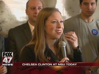 Chelsea Clinton in mid-Michigan Thursday