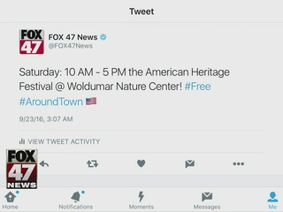 Around Town 9/23/16: American Heritage Festival