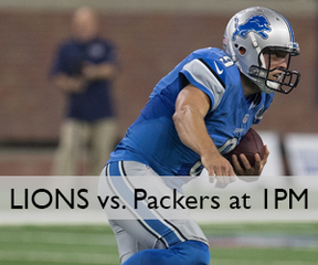 Watch the Lions vs. Packers tomorrow on FOX 47!