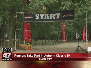 Runners take part in Autumn Classic 8K