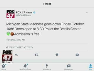 Around Town 10/13/16: Midnight Madness at MSU