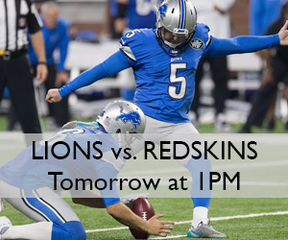Lions take on Kirk Cousins and the Redskins!