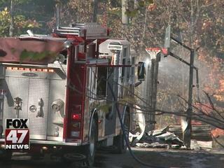 No one injured in Williamston barn fire