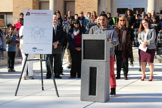 Lansing school unveils student-designed entrance
