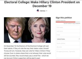 Over two million sign petition to elect Clinton