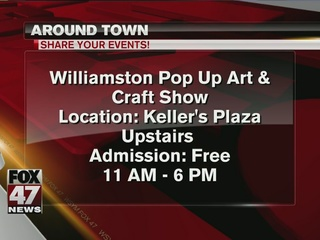 Around Town: Pop Up Art and Craft Show