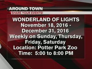 Wonderland of lights at Potter Park Zoo