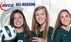 Garvelink, Bailey, Fitterer earn AVCA honors