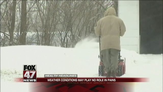 Inclement weather not to blame for aches and pains