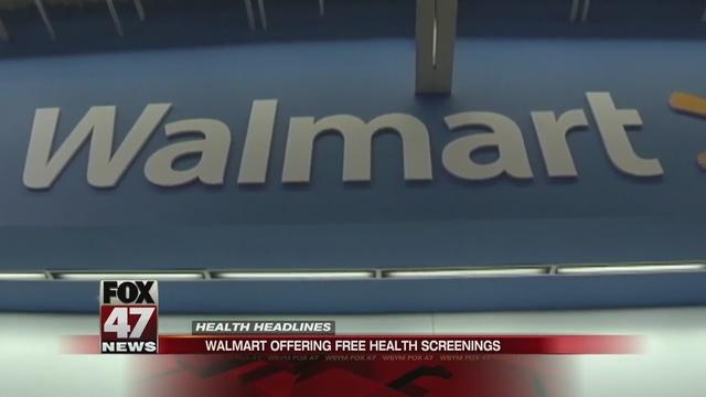 Area Wal-Mart, Sam's Club to provide free health screenings