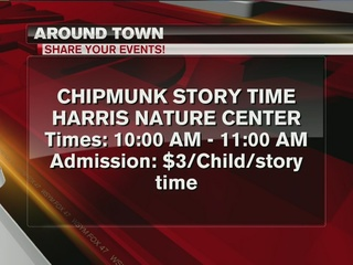 Around Town 1/18/17: Chipmunk Story Time
