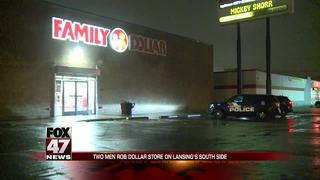 Two men rob dollar store in Lansing