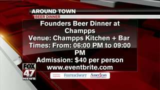 Around Town: 2/23/17: Founders Beer Dinner event