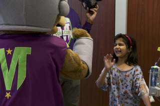 Mascots for a Cure bring joy to children