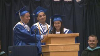 Triplets make valedictorian spot at graduation