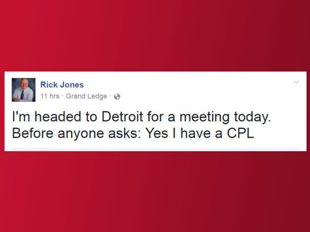 Senator before Detroit trip: 'Yes, I have a CPL'