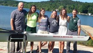 Hessler honored at Lake Leelanau boat dedication