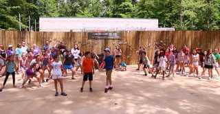 Flash mob at Binder Park celebrates new exhibit