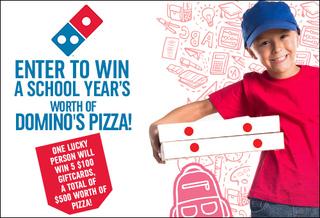 Win a School Year's Worth of Domino's Pizza!