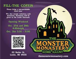 Monster Monastery hosts 'Fill the Coffin' event