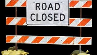 Road closures in Delhi Township