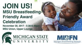 MSU gets Breastfeeding-Friendly Workplace award