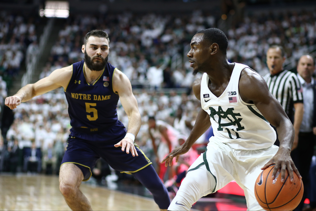 MSU holds on to beat Notre Dame in ACC-Big Ten Challenge
