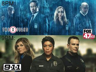 All new The X-Files, 9-1-1 tomorrow on FOX 47!