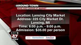 Around Town 1/18/18: Wine and Canvas at Market