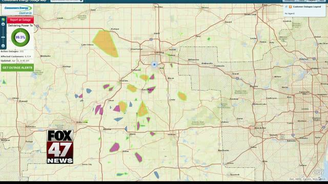 Thousands in the dark after storm; click to see outage maps - FOX 47 ...