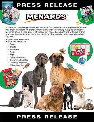Menards Pet Supply Drive For National Pet Month Fox 47 News Wsym