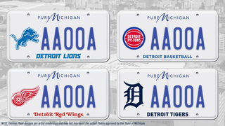Sports fans can get official MI license plates