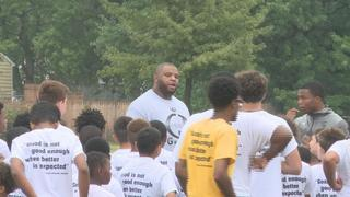 Former NFL player using football to teach...