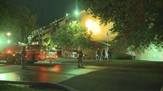 Firefighter injured battling apartment fire