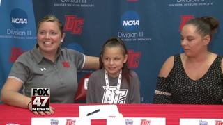 Olivet College recruits 9-year-old with illness