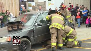Firefighters compete in car cutting contest